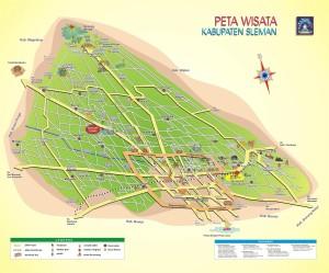 Peta Wisata Kabupaten Sleman Yogyakarta