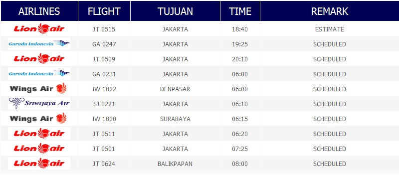 Grabbing Jadwal Penerbangan Bandara