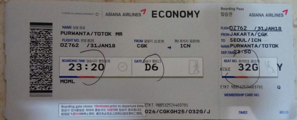 Perjalanan Ke Korea Selatan dengan Pesawat Asiana Airlines