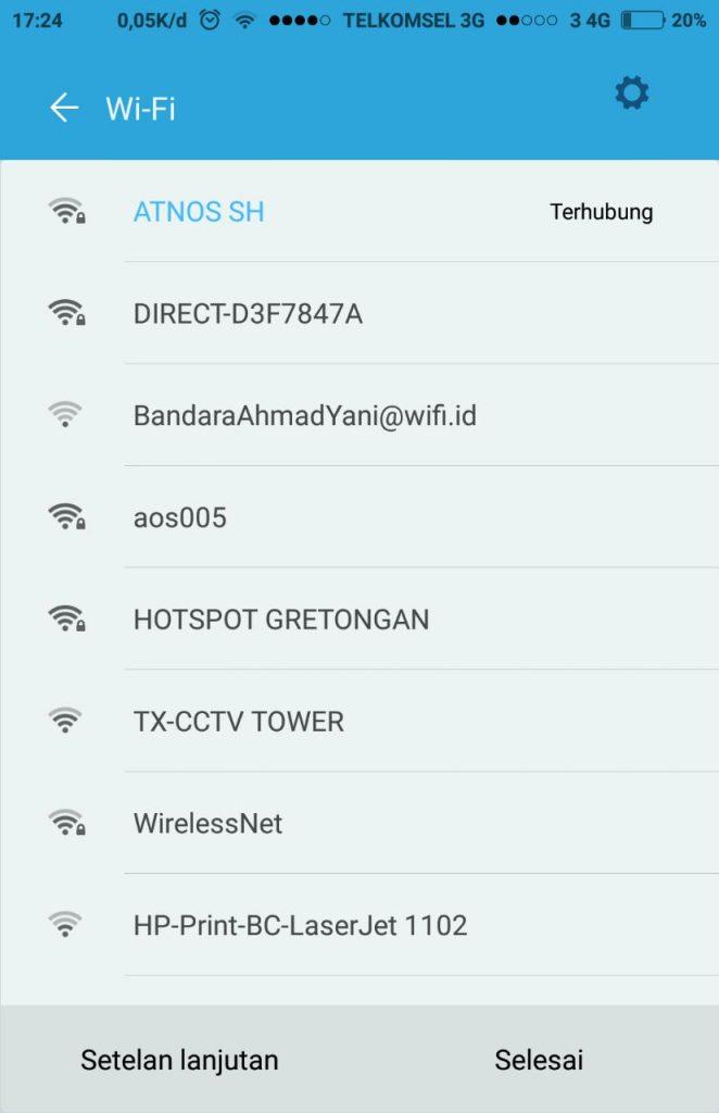 Cara Konek Wifi di HP Android